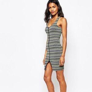 NWOT River Island zip bodycon dress